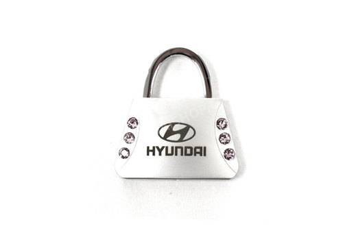 Hyundai Keychain - Purse Shaped, Pink Crystals