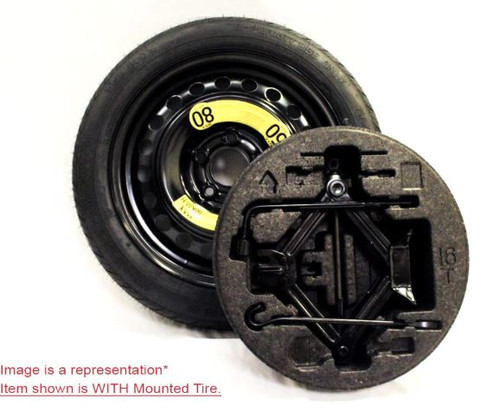 Hyundai Sonata Spare Tire Kit - fits 2015-2018 models. Shown with Mounted Tire