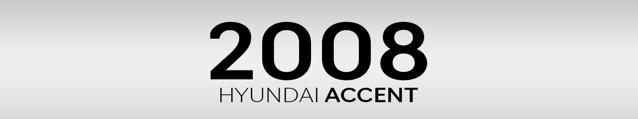 2008 Hyundai Accent Accessories and Parts