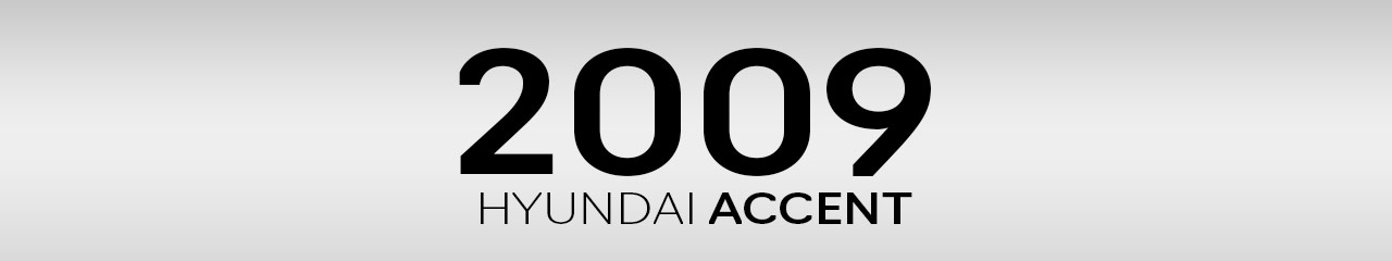 2009 Hyundai Accent Accessories and Parts