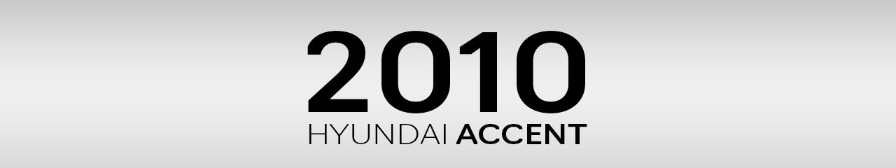2010 Hyundai Accent Accessories and Parts