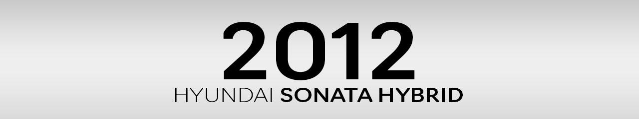 2012 Hyundai Sonata Hybrid Accessories and Parts