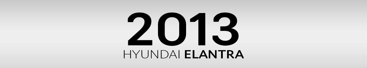 2013 Hyundai Elantra Accessories and Parts