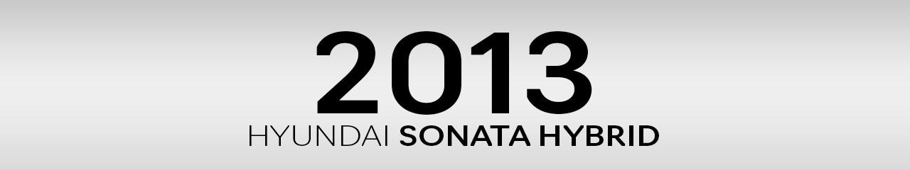 2013 Hyundai Sonata Hybrid Accessories and Parts