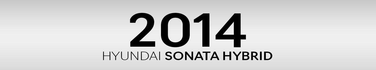 2014 Hyundai Sonata Hybrid Accessories and Parts