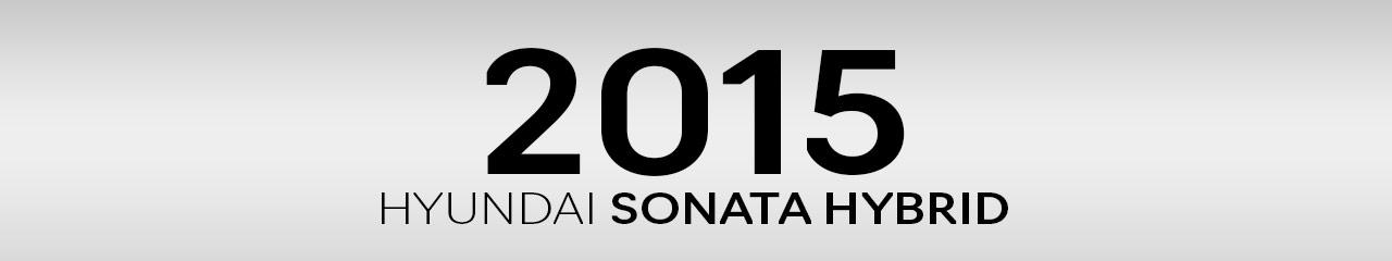 2015 Hyundai Sonata Hybrid Accessories and Parts
