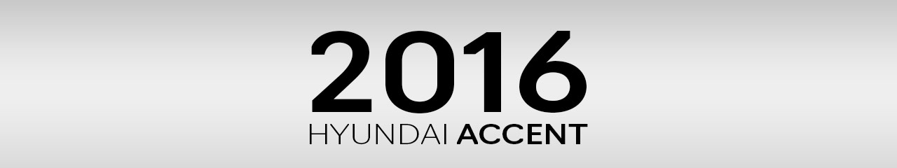 2016 Hyundai Accent Accessories and Parts