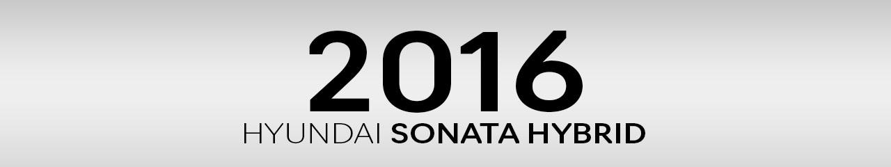 2016 Hyundai Sonata Hybrid Accessories and Parts