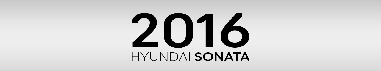 2016 Hyundai Sonata Accessories and Parts
