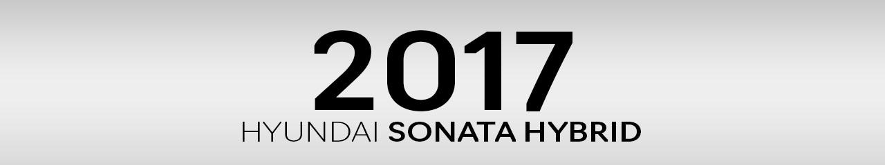 2017 Hyundai Sonata Hybrid Accessories and Parts