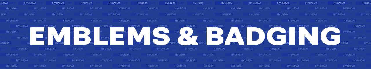 Hyundai Emblems and Badging