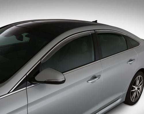 2016 Hyundai Santa Fe >> 2015-2019 Hyundai Sonata Rain Guards - Free Shipping | Hyundai Shop