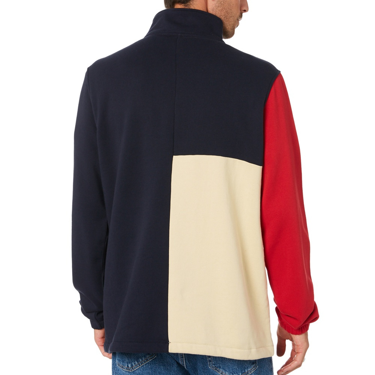 STUSSY Colour Block Fleece Dark Navy