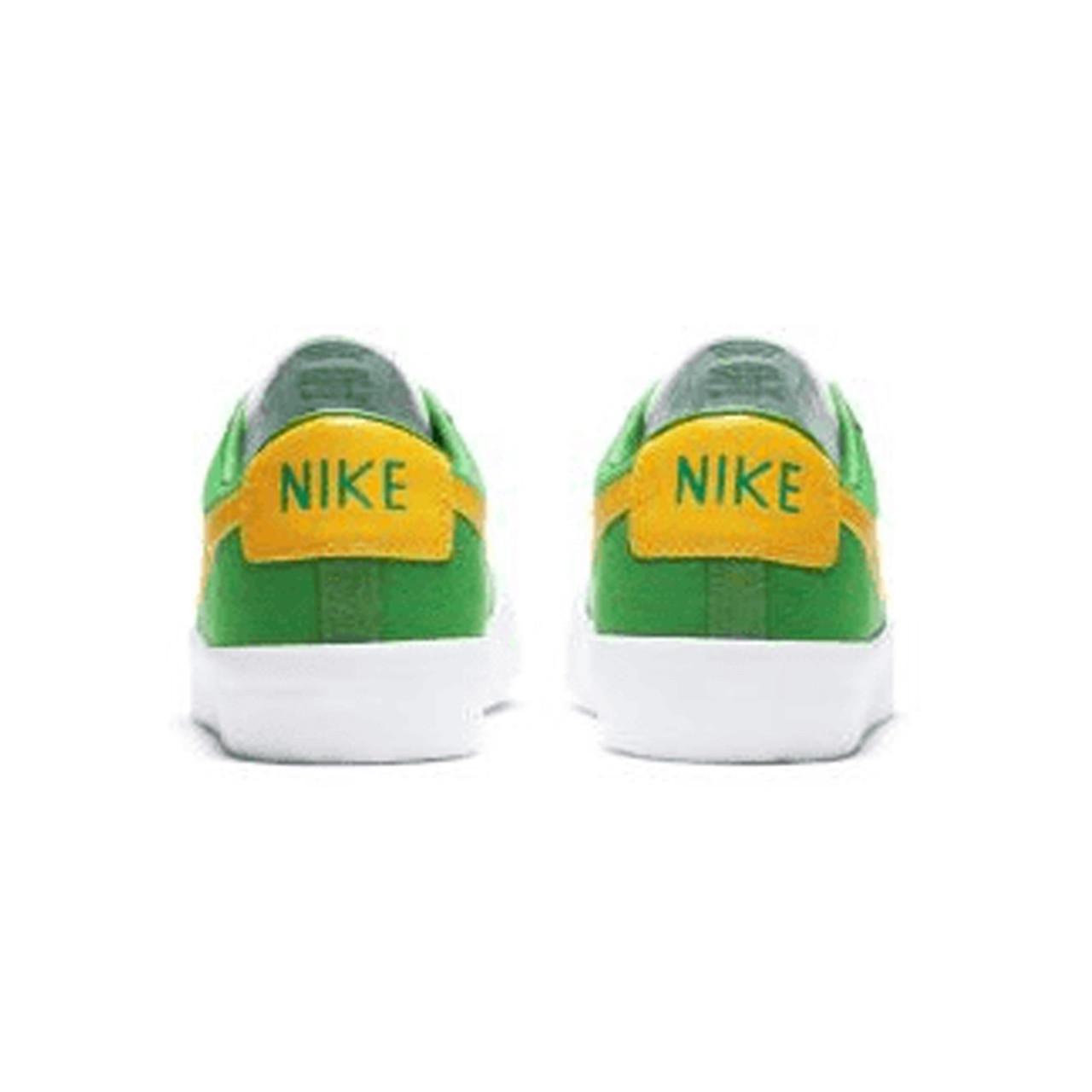 NIKE SB Zoom Blazer Low Pro GT Shoes Lucky Green/University Gold-Black-White