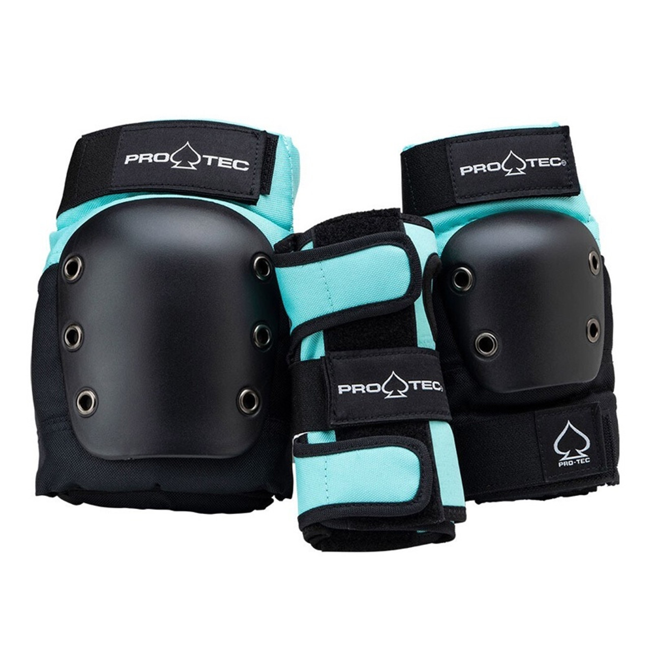 PRO TEC Street Gear Junior 3 Pack Black/Sky Blue (Sky Brown)