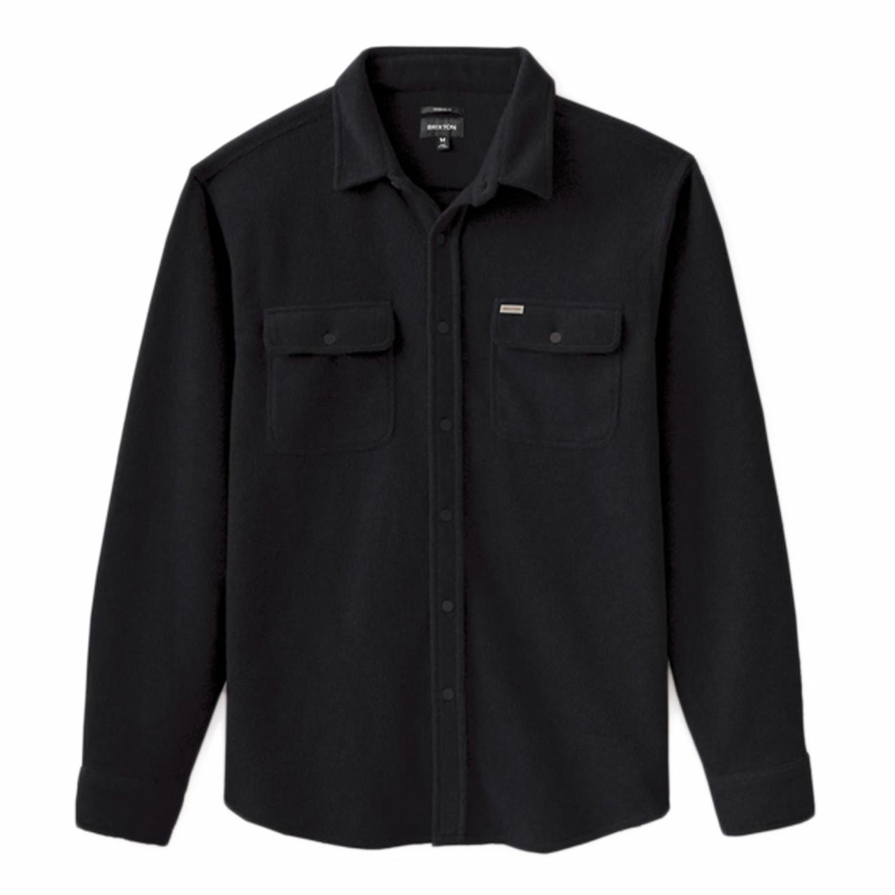 BRIXTON Bowery Fleece LS Flannel Black