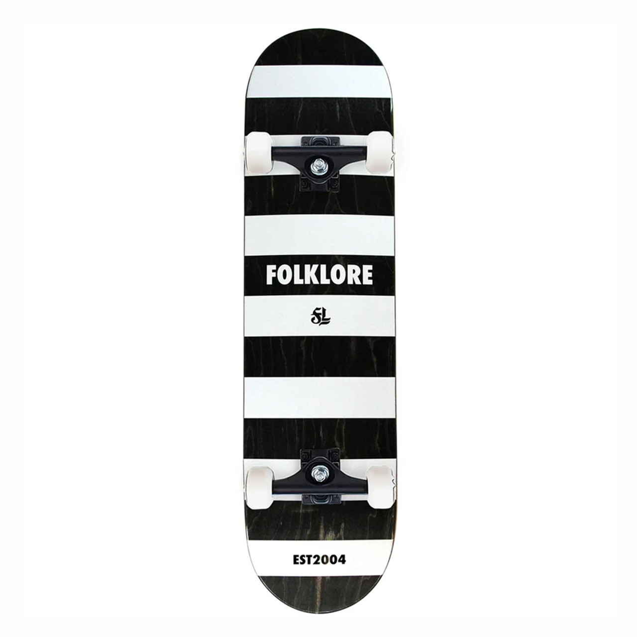 FOLKLORE Convict Complete Skateboard White 8.5