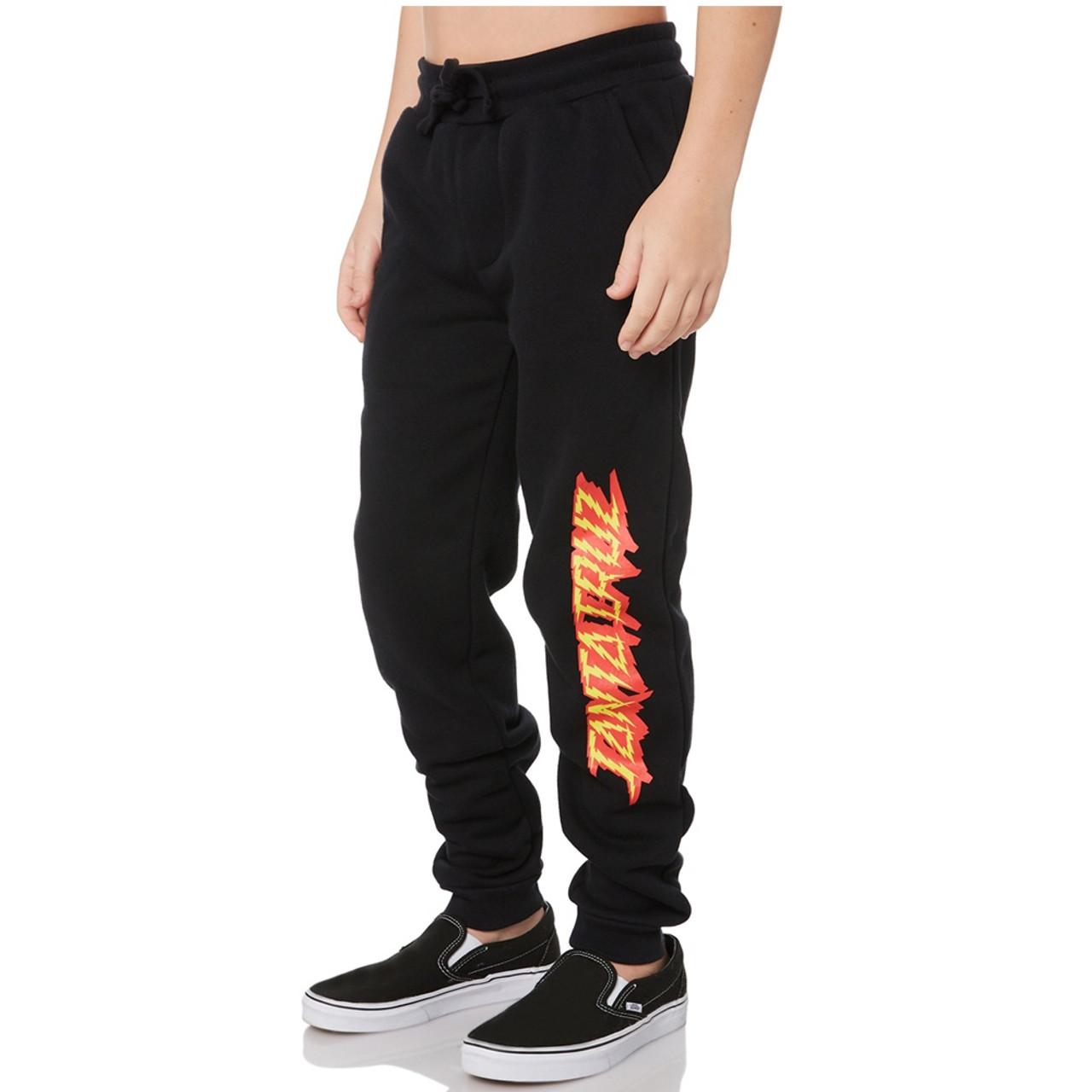 SANTA CRUZ Shock Strip Track Youth Pants Black