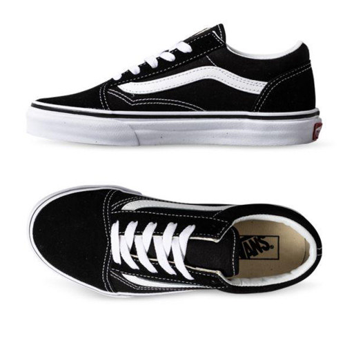 VANS Old Skool Kids Shoes Black/True White