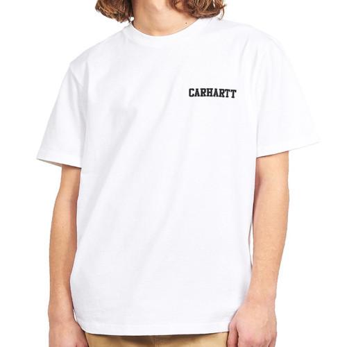 CARHARTT S/S College Script Tee White/Black
