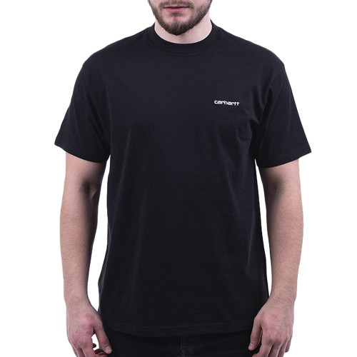 CARHARTT S/S Script Embroidery Tee Black/White