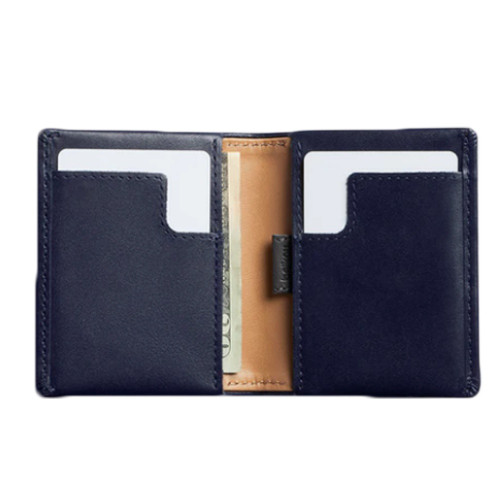 BELLROY Slim Sleeve Leather Wallet Navy