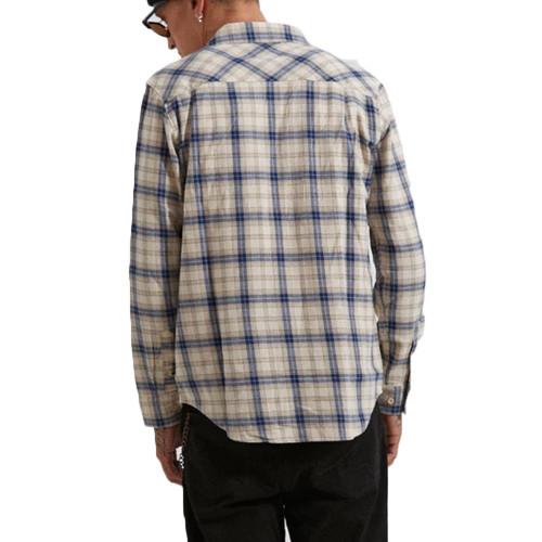 AFENDS Mugshot LS Shirt Macadamia