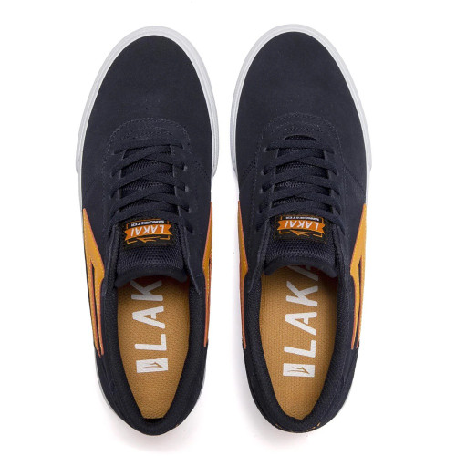 LAKAI Manchester Shoes Navy/Orange Suede