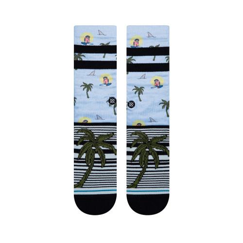 STANCE Aloha Monkey St Socks Light Blue