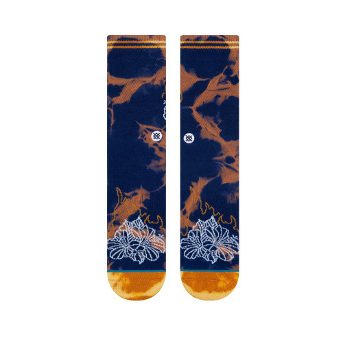 STANCE Floral Flame Socks Navy