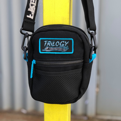 THE BUMBAG CO x TRILOGY Funeral French Compact Shoulder Bag Black