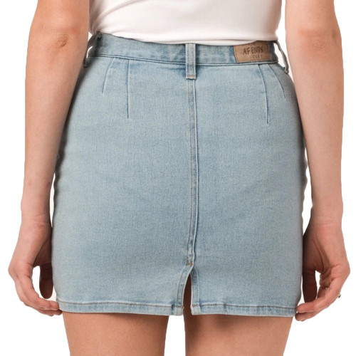 AFENDS Chevy Denim Skirt Stone Blue