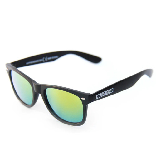 HAPPY HOUR Blacks Beach Shades Smoke Grey Yellow Mirror Lenses