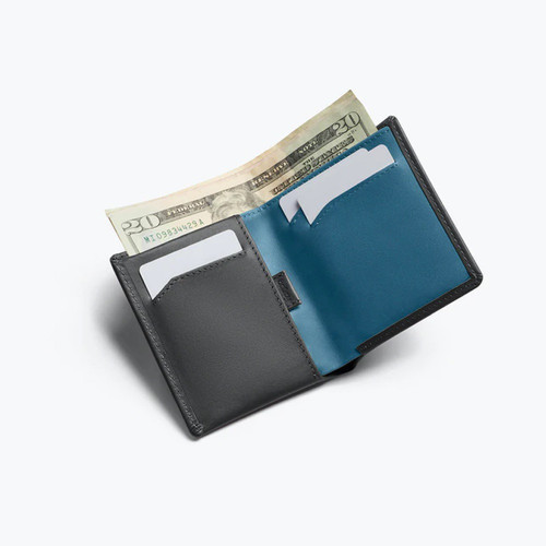BELLROY Note Sleeve Leather Wallet Charcoal