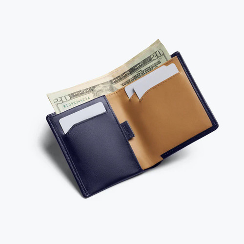 BELLROY Note Sleeve RFID Leather Wallet Navy
