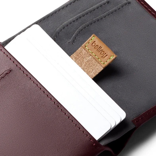 BELLROY Note Sleeve RFID Leather Wallet Wine