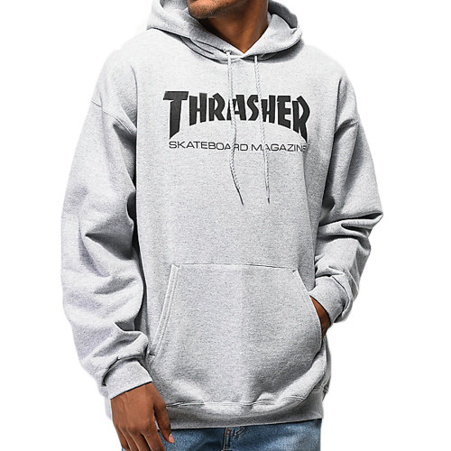 THRASHER Skate Mag Hood Light Grey