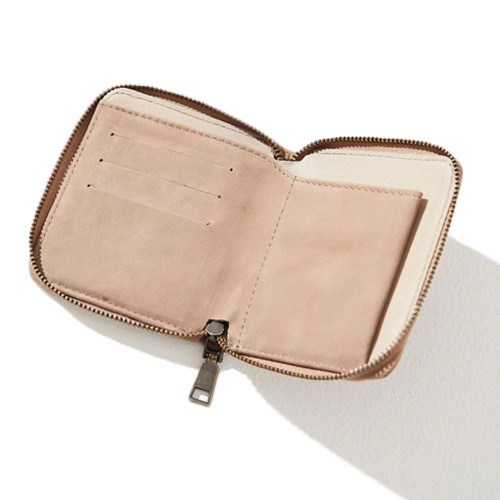 AFENDS Stash Leather Wallet Macadamia