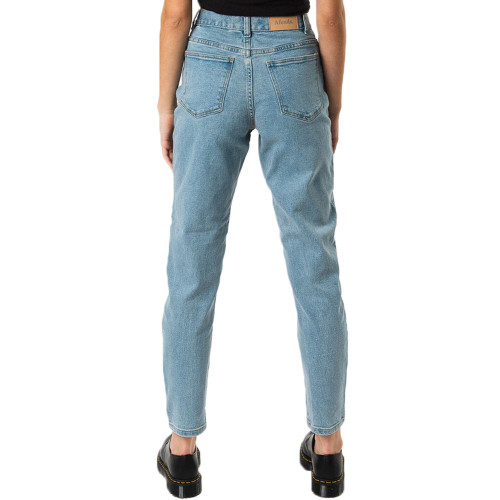AFENDS Luckies High Waist Slim Jeans Stone Blue