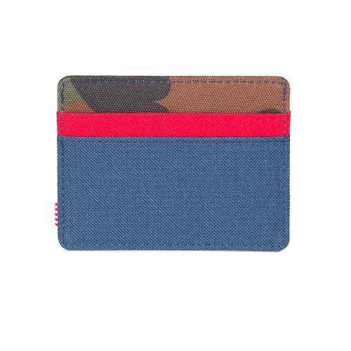HERSCHEL Charlie Wallet RFID Woodland Camo/Navy/Red