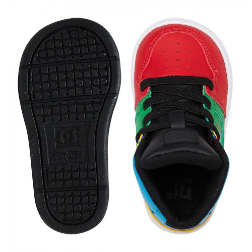 DC Pure Hi SE UL SN Toddlers Shoes Rainbow
