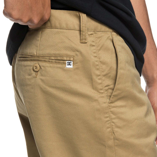 DC Worker Straight Chino Shorts Khaki