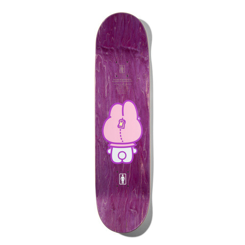 GIRL Sanrio 60th Niels Bennett Skateboard Deck Pink 8.125