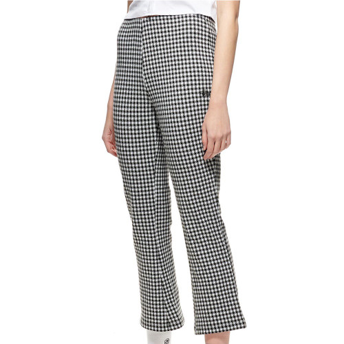 STUSSY Montrose Knitted Check Pants White/Black