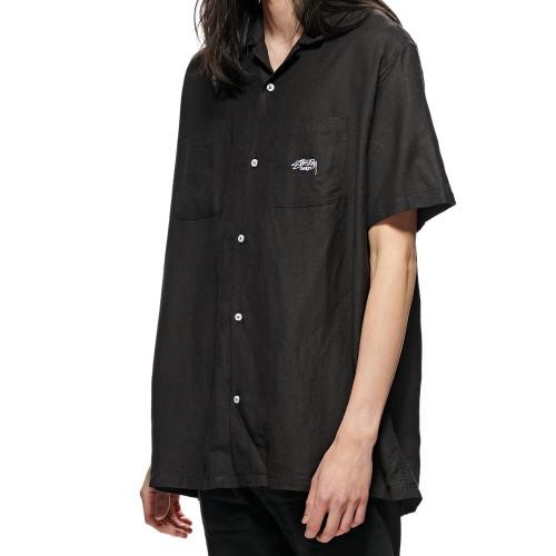 STUSSY Linen SS Shirt Black