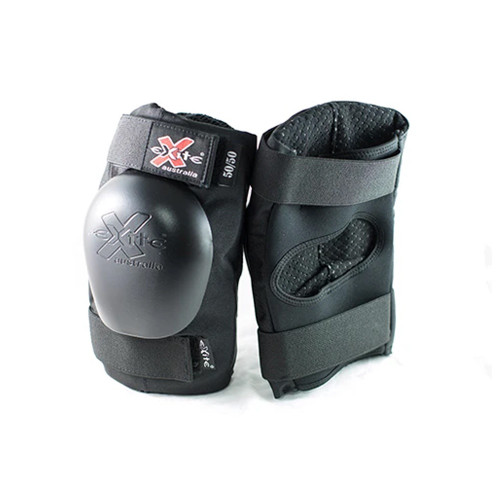 EXITE 50/50 Knee + Elbow Combo Pack Pad Set Black