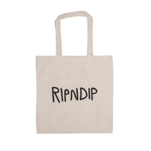RIPNDIP Lord Nermal Tote Bag Natural