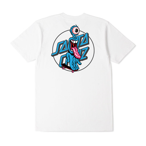 SANTA CRUZ Grip Dot Youth Tee White
