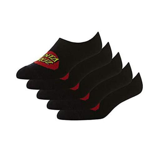 SANTA CRUZ No Show Socks Black 5PK