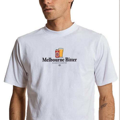 MR SIMPLE Melbourne Bitter Heavy Weight Original Tee White